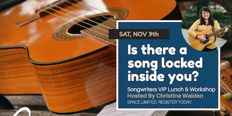 VIP Lunch & Songwriter Workshop with Christina Walden tickets