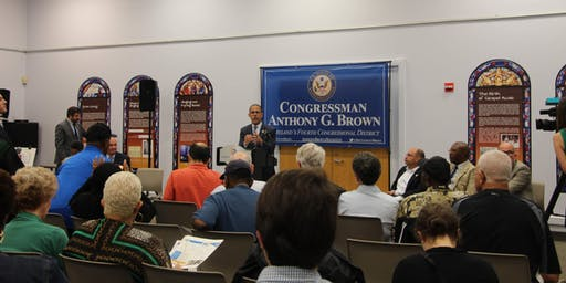 Conversation with Congressman Brown in Crownsville