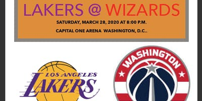 Lakers @ The Wizards NBA Game Bus Trip