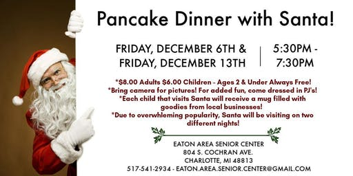 Pancakes with Santa on Dec. 6th