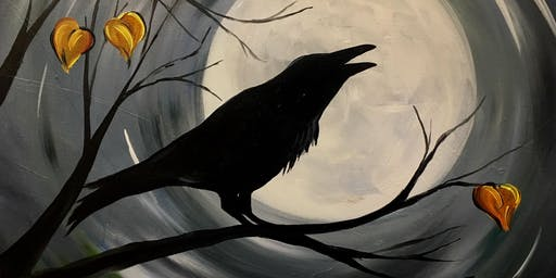 Midnight Raven - Painting at Montavino Winery!
