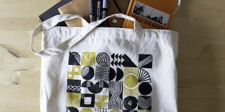 Tote Bag Pattern Block Printing tickets