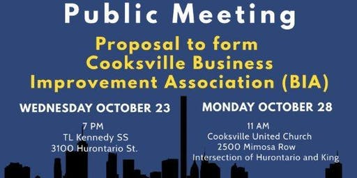 Cooksville Business Improvement Association Public Meeting
