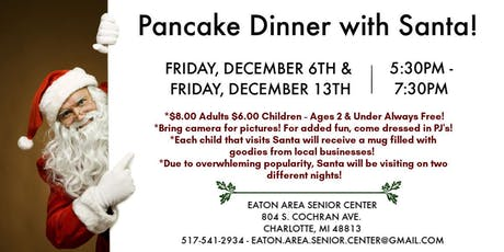 Pancakes with Santa on Dec. 13th tickets