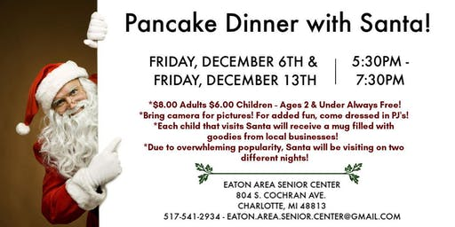 Pancakes with Santa on Dec. 13th