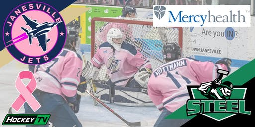 FRIDAY Pink in the Rink: Oct 25th Jets vs. Steel (G4)