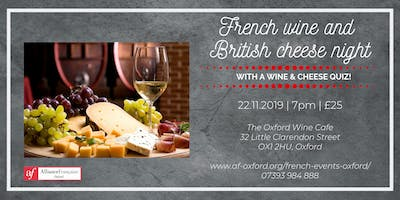 French wine and British cheese night