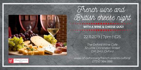 French wine and British cheese night tickets