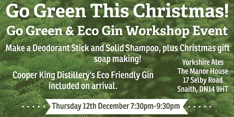Cosmeti-Craft®️GO GREEN©️ For Christmas! Plus Festive Soap Gift Making tickets