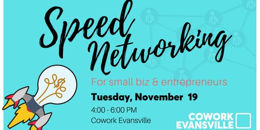 Cowork Evansville Small Business Speed Dating Reception