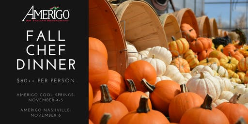 Fall Chef Dinner at Amerigo Cool Springs