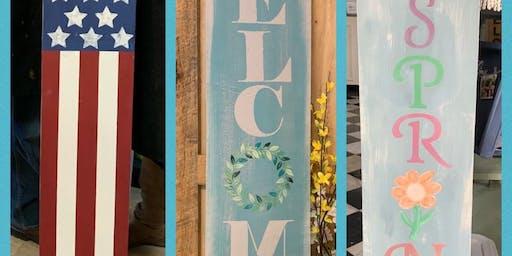 Porch Sign Workshop - Valpo