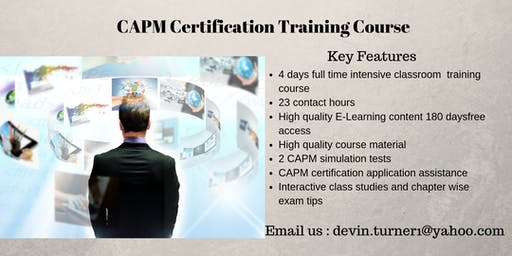 CAPM Certification Course in Cap-Chat, QC