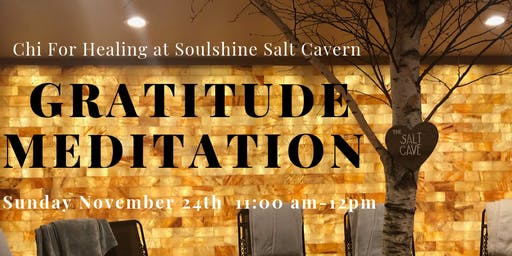 Salt Cave Gratitude Meditation with Crystals, Aromatherapy, & Sound Healing