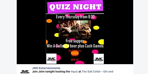 Saltaire Weekly Thursday Quiz