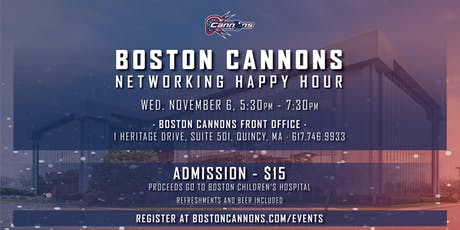 Boston Cannons Networking Happy Hour tickets