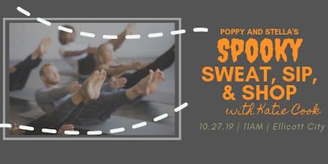 Spooky Sweat, Sip, & Shop tickets