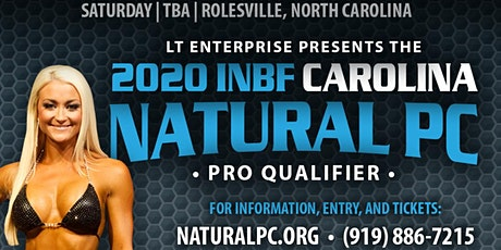 INBF CAROLINA NATURAL Physique Championship (OCTOBER 3, 2020) tickets