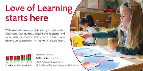 Westside Montessori Academy Elementary Open House tickets