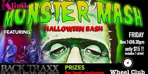 Monster Mash Halloween Bash feat. Backtraxx and Prizes at The Wheel Club