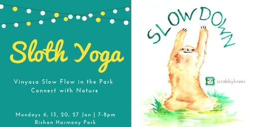 Sloth Yoga: Move slowly & mindfully!