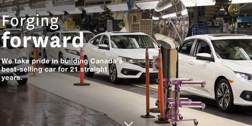 Honda of Canada Mfg. Facility Tour -- See the Civic being Assembled!!!