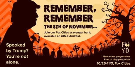 Remember, Remember: a scavenger hunt for Fox Cities progressives tickets