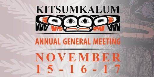 Kitsumkalum AGM - Nov. 15, 16, 17, 2019