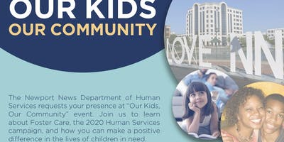 Newport News Department of Human Services 2020 Foster Care Campaign Event