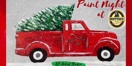 Paint Night at Rotties - Truck & Tree tickets
