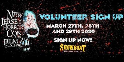 Volunteer Registration SPRING 2020 - New Jersey Horror *** and Film Festival
