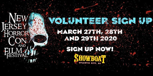Volunteer Registration SPRING 2020 - New Jersey Horror Con and Film Festival
