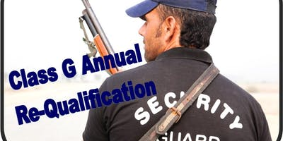 """Annual Class """"G""""  Re-Qualification"""