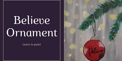 "Learn to Paint ""Red Christmas Ball"""