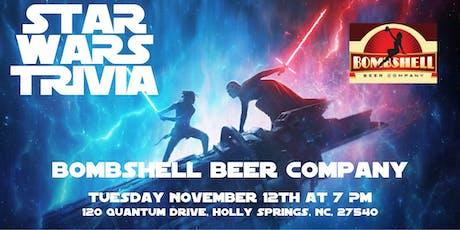 Star Wars Trivia at Bombshell Beer Company tickets
