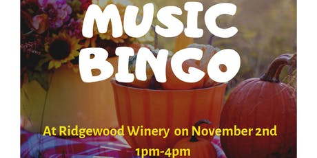 Music Bingo at Ridgewood Winery tickets