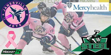 SATURDAY Pink in the Rink: Oct 26th Jets vs. Steel (G5) tickets