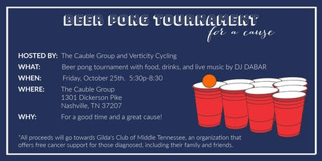 Beer Pong Tournament Benefiting Gilda's Club of Nashville tickets
