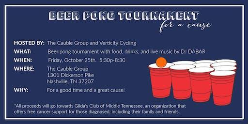 Beer Pong Tournament Benefiting Gilda's Club of Nashville