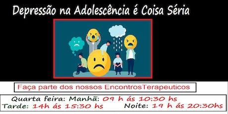 Depressão na adolescência é coisa séria. ingressos