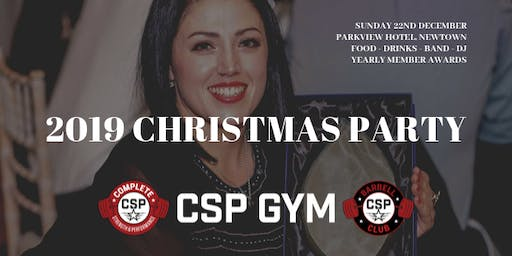 CSP GYM XMAS PARTY & AWARDS NIGHT