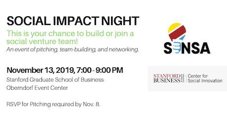 Social Impact Night tickets