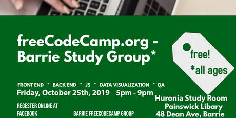 freeCodeCamp.org Barrie Study Meeting v.4 2019 tickets