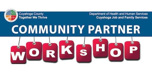Cuyahoga Job and Family Services' Community Partner Workshop