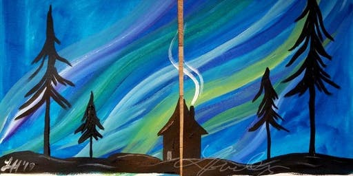 Creative Together Paint Night -Northern Lights