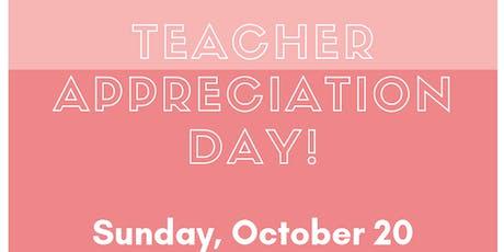 Array Teacher Appreciation Shopping Day tickets