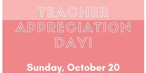 Array Teacher Appreciation Shopping Day