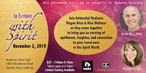 An Evening with Spirit - Charity Event for OC Humane Society