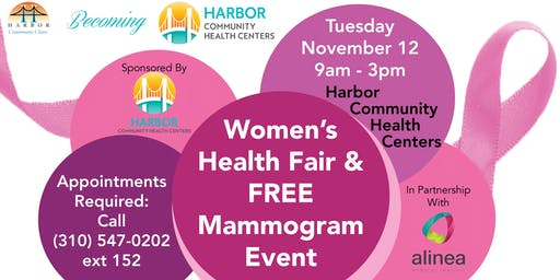 Women's Health Fair & Free Mammogram Event!