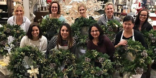 Winter Wreath Workshop at Granite Coast Brewing with Alice's Table